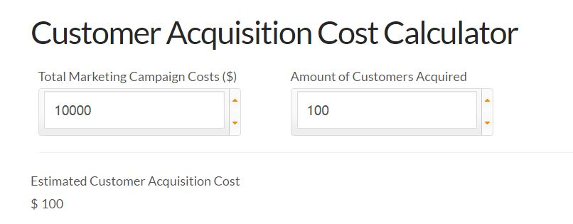 Customer Acquisition Cost Calculator