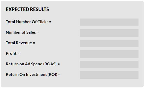PPC ROI Calculator Expected Results